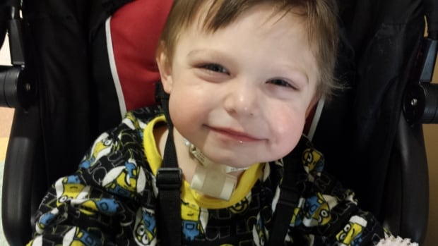 Deagan Clavette, a Hay River, N.W.T., toddler 'severely allergic to life,' celebrates his second birthday today at a Mickey Mouse-themed party in Edmonton.