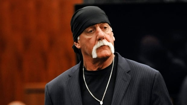 Hulk Hogan, whose given name is Terry Bollea, leaves the courtroom during a break Wednesday in his trial against Gawker Media in St. Petersburg, Fla.