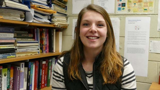 Jenna Noordenbos is one of 15 female students being recognized at Brandon University on Thursday.