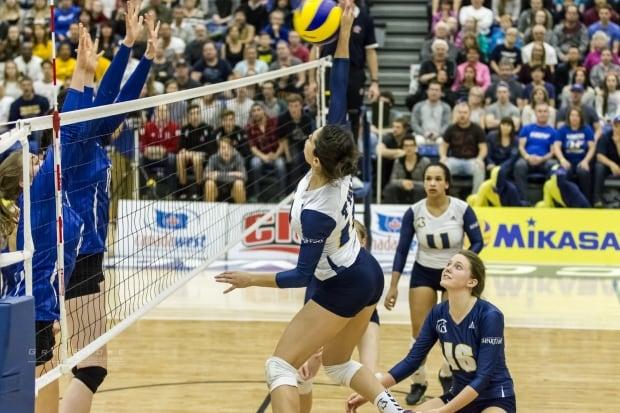 UBC Okanagan Trinity Western volleyball