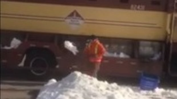 Footage of this garbage man shovelling snow into his truck sparked allegations he was trying to pad the vehicle's weight, earning more money for the private company that collects waste in Milton.