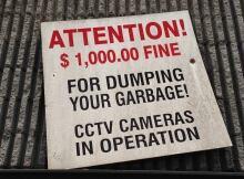 Dumping fine warning