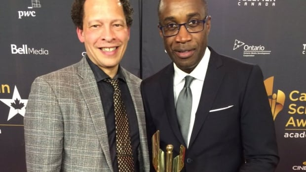 Lawrence Hill, author of The Book of Negroes, with director Clement Virgo.