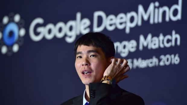 Lee Sedol, one of the greatest modern players of the ancient board game Go, reacts during a press conference after losing the second game of the Google DeepMind Challenge Match in Seoul on Thursday.