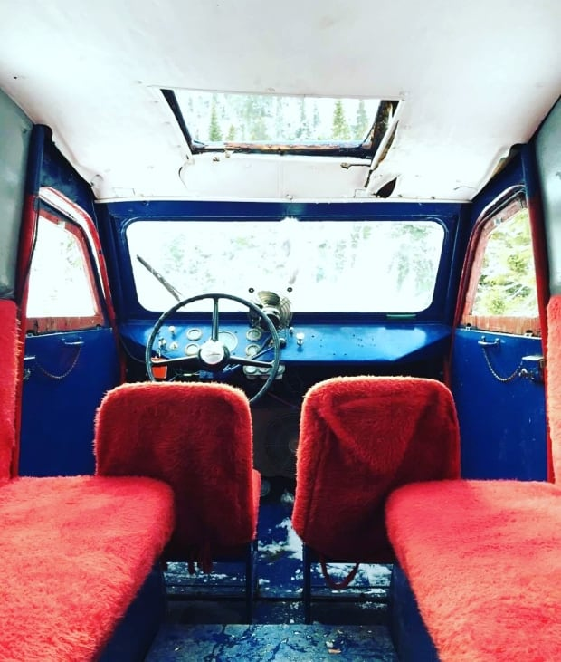 1957 Bombardier snow machine interior