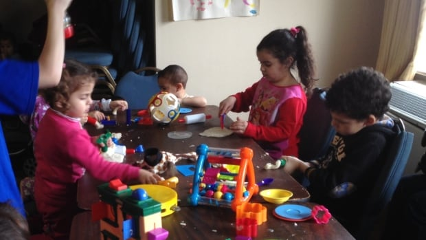 Four times a week, Syrian refugee children gather at the Radisson in downtown Ottawa for a playgroup.