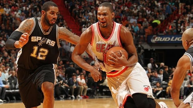 Chris Bosh, right, was averaging 19.1 points per game before being sidelined.