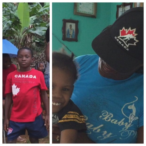 Baseball hat canadian shirt