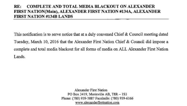 media blackout notice