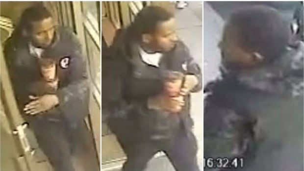 Three different angles of the same man, who police are calling a person of interest, who may be connected to a Beltline shooting March 3.