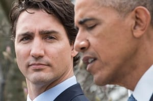 Justin Trudeau and Barack Obama
