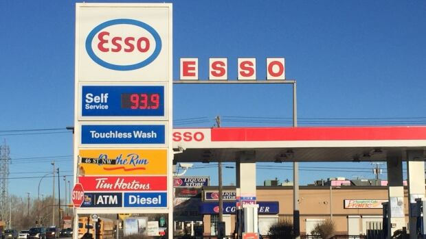 Gas prices in Calgary are as high as 93.9 cents per litre today.