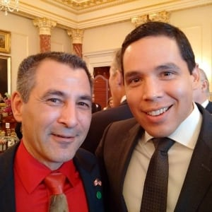 Hunter Tootoo and Natan Obed
