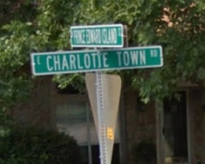 Charlotte Town Road and Prince Edward Island Street