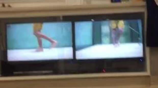 Snowboarder Mark McMorris on an underwater treadmill.