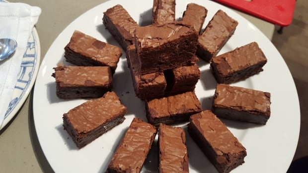 Rosie Daykin's Irish whiskey brownies.