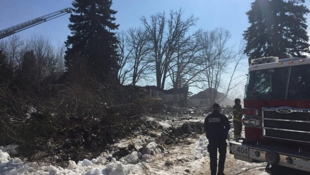 Police say a fire that destroyed an abandoned Saudi Arabia embassy building in Gatineau could be suspicious.