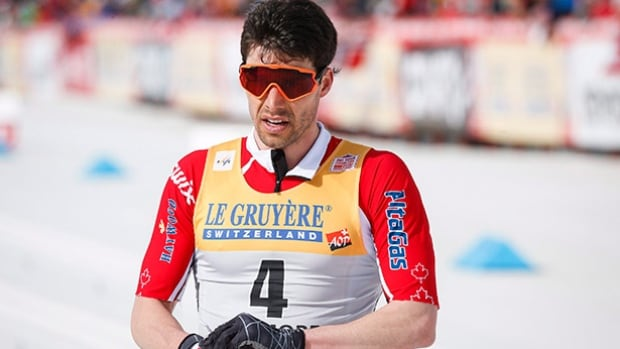 Canada's Alex Harvey skis during World Cup cross country skiing men's 15km pursuit event in Canmore, Alta. on Saturday.