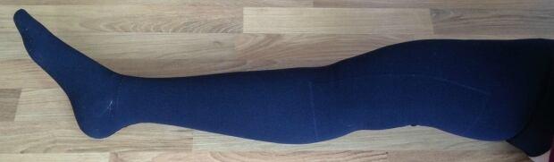 Amber Graveline compression stocking