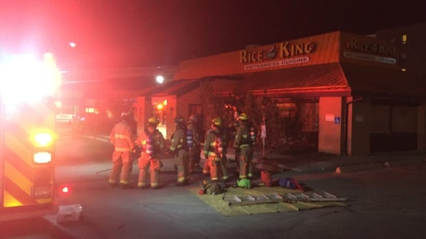 Rice for King on Macleod Trail caught fire on Sunday morning.