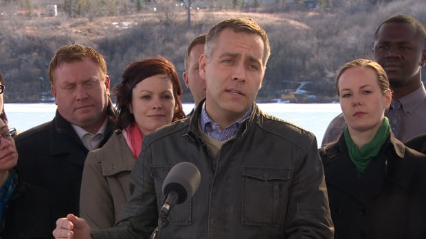 NDP leader Cam Broten says, if elected, they will trim spending on the 'bloated' health-care administration.
