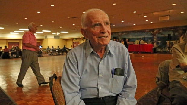 Jack Kaufman, 95, a resident at the Century Village retirement community in West Palm Beach, Fla., has committed to voting for Hillary Clinton in Tuesday's Florida primary. The Sunshine State's senior citizens are a highly-coveted and active voting bloc.