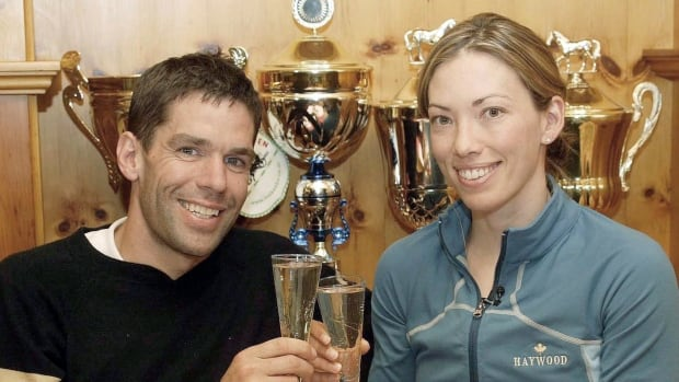 Canadian cross-country ski team coach Justin Wadsworth, left, stepped down from his position on Monday to spend more time with his wife, Canadian Olympian Beckie Scott, and their family.