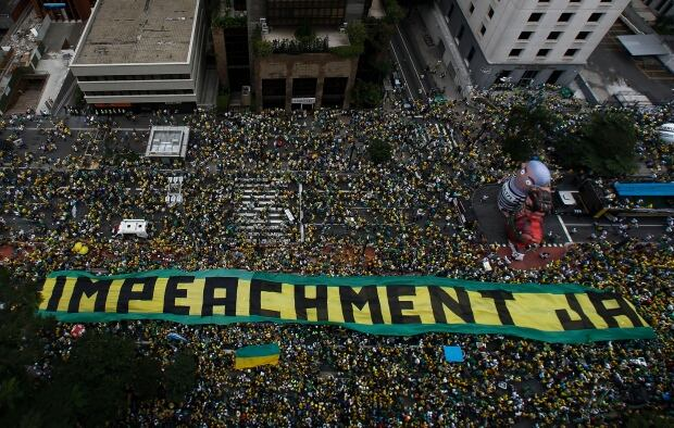 Brazil mass protests March 13 2016 Sao Paulo