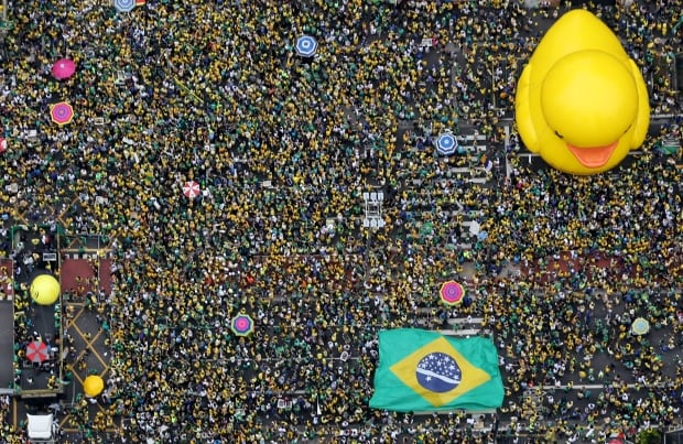 BRAZIL-anti ROUSSEFF PROTESTS March 13 2016 Sao Paulo