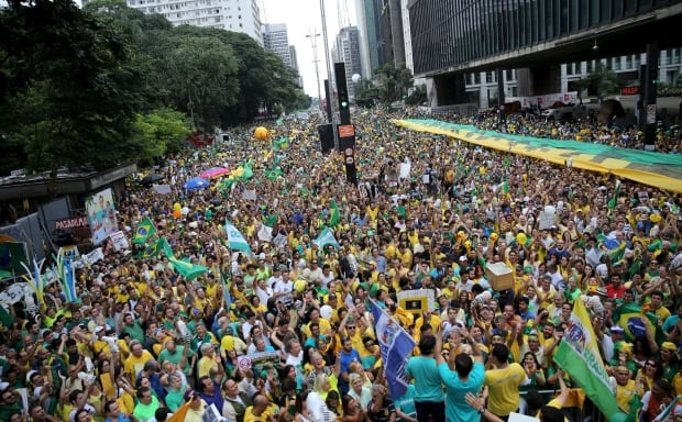 BRAZIL-anti ROUSSEFF PROTESTS March 13 2016 Sao Paulo mass demonstration