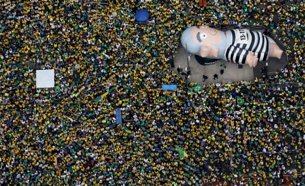BRAZIL-anti-ROUSSEFF PROTESTS bring out millions March 13 2016