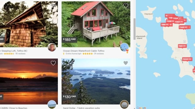 A quick search of Airbnb lists 273 properties available in the Tofino area. Tofino Council wants to enforce regulations on rentals because of a shortage of housing for residents and the seasonal workforce.