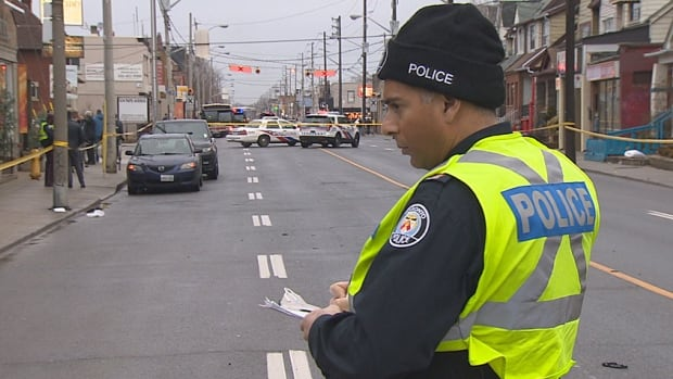 Toronto police's traffic services division is investigating after a man in his 50s was struck and seriously injured by a driver who fled the scene.