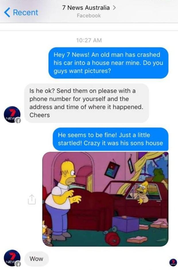 Simpsons News Tip Grandpa Car