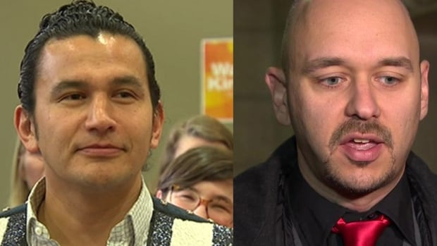 Wab Kinew, NDP candidate for Fort Rouge, has apologized for offensive past lyrics and tweets. Jamie Hall (right) resigned days after announcing his candidacy for the Liberals when misogynistic tweets he made years before surfaced.