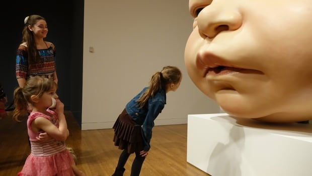 Children have a variety of reactions — from awe to horror — when they first encounter Ron Mueck's Head of a Baby.
