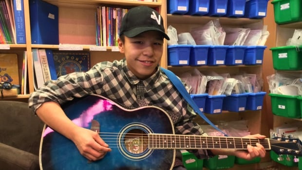 Marcus Kimiksana, 15, says Jack Cooper's FaceTime classes with Mangilaluk School students in Tuktoyaktuk are 'awesome.'