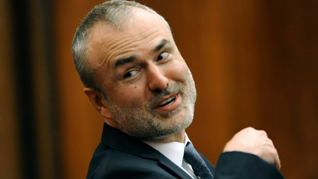 Gawker Media founder Nick Denton attends Hulk Hogan's trial against Gawker in St. Petersburg, Fla. Hogan, whose given name is Terry Bollea, is suing Gawker for $100 million US, saying his privacy was violated, and he suffered emotional distress after the site posted a sex tape of him.