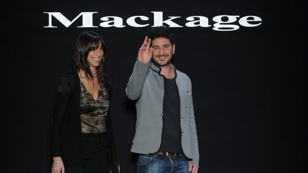 'We're designers, we want to create. We don't want to spend our time fighting in court or finding ways to protect what we do,' said Mackage co-creative director Elisa Dahan, seen with label co-designer Eran Elfassy. The Canadian brand is just one of many labels who have experienced their designs copied by others.