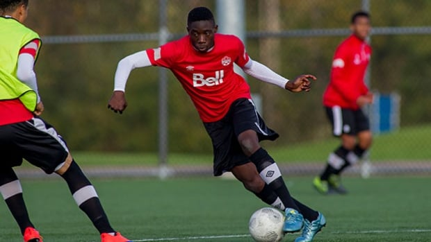 Alphonso Davies has been called-up to Canada's U-20 soccer team, for two friendlies later this month against England.