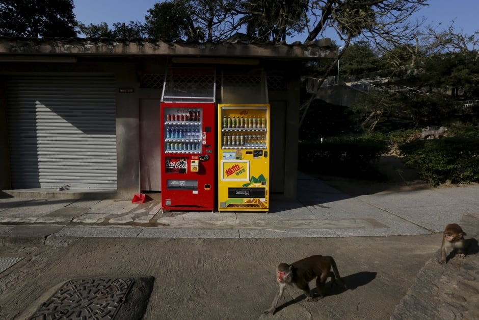 world water day Hong Kong vending machines Feb 2016