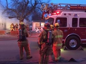 Regina - firefighters - house - fire
