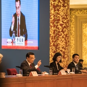 Premier Li Keqiang at his newser