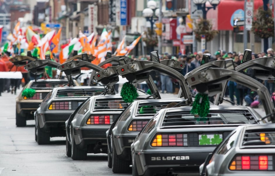DeLorean DMC-12 St Patricks Day parade Toronto