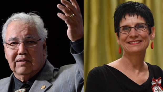 Justice Murray Sinclair (left) and Manitoban educator Raymonde Gagné have been appointed to the Senate.