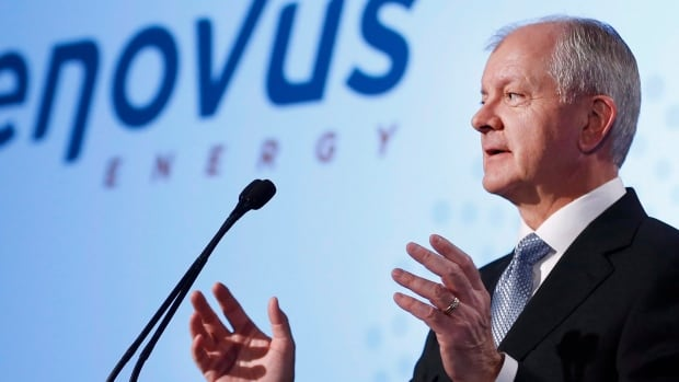 Brian Ferguson, president and CEO of Cenovus, speaks at the company's annual general meeting in Calgary on April 29, 2015.