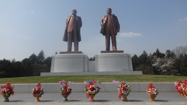 Fawcett says touring North Korea he regularly encountered statues and monuments to the country's government. The trip was an eye-opening experience, he says, spurring him to get involved with human rights activism for people living in the country.