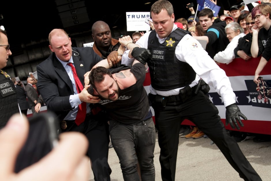 WIP USA-ELECTION TRUMP rally ejection March 12 2016