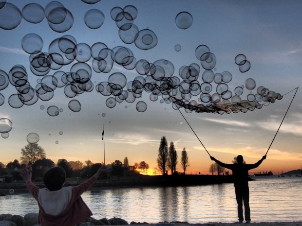 Bubble Man at Sunset Beach