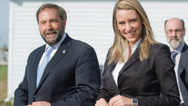 NDP MP Ruth Ellen Brosseau with NDP deputy leader Thomas Mulcair in 2011. Mulcair stepped up to mentor Brosseau when she was first elected and she is throwing her support behind the NDP leader in advance of the party's policy convention in early April.